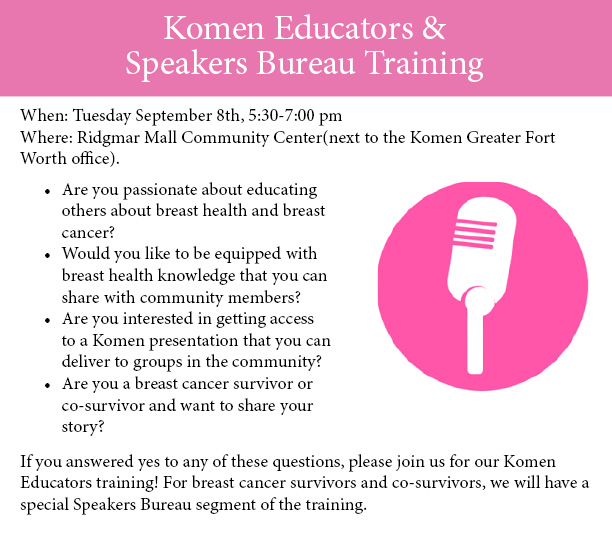 Komen Educators... page